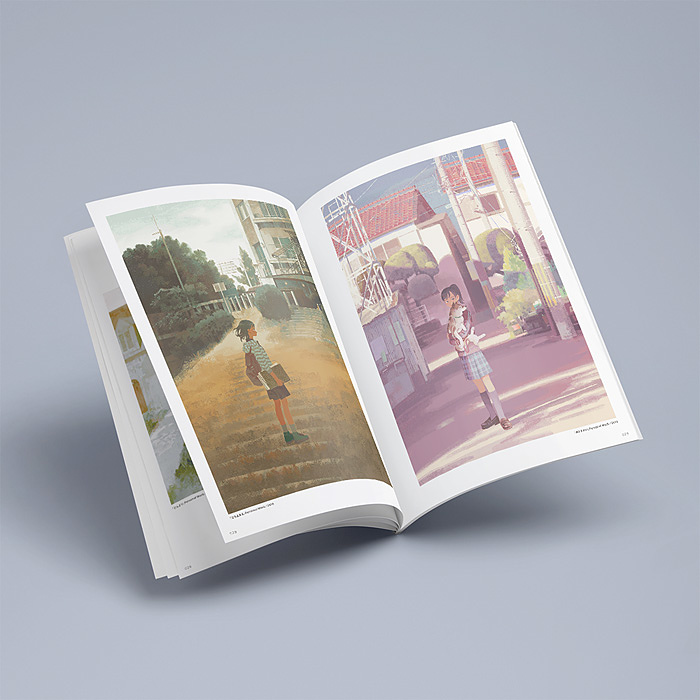 『ILLUSTRATION MAKING & VISUAL BOOK くまおり純』より