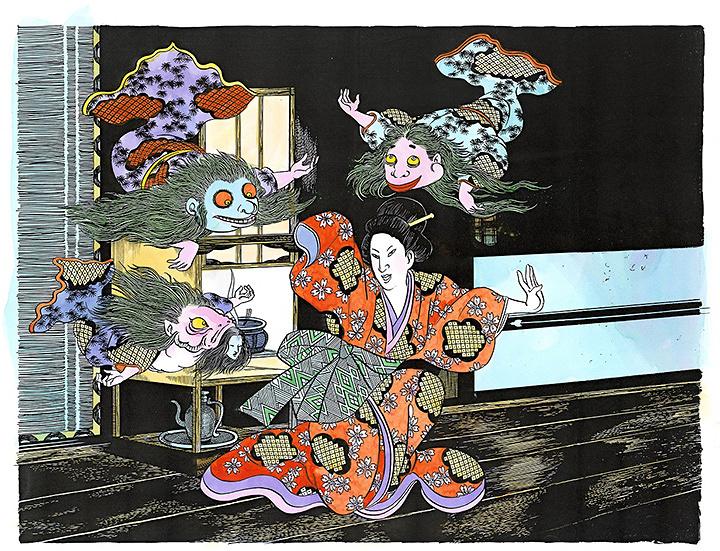 水木しげるが描いた「金魚の幽霊」