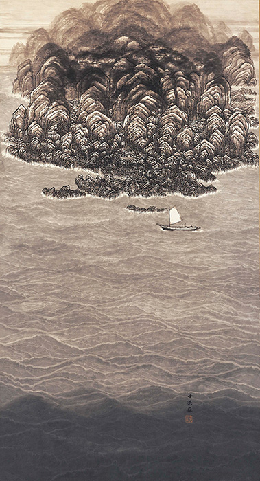 不染鉄『南海之図』昭和30(1955)年頃 愛知県美術館蔵