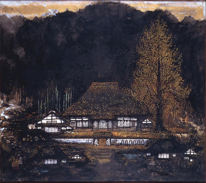 不染鉄『落葉浄土』昭和49(1974)年頃 奈良県立美術館蔵