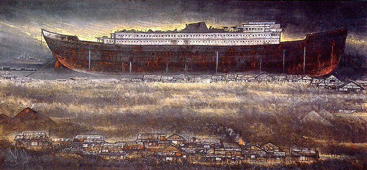 不染鉄『廃船』昭和44(1969)年頃 京都国立近代美術館蔵