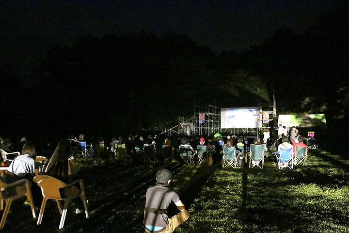『湖畔の映画祭』会場風景