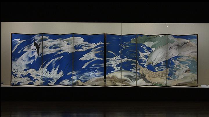 川端龍子『鳴門』1929年(昭和4年)山種美術館