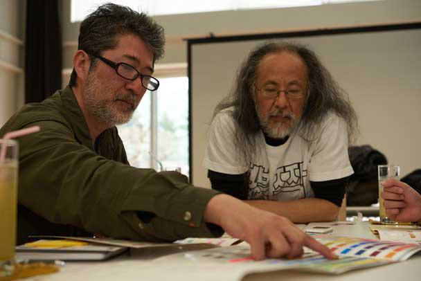 左から:会田誠、根本敬