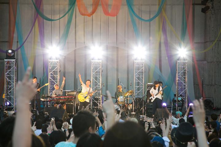 『bonobos 日比谷野音ワンマン』公演風景 2017年8月12日 東京・日比谷野外大音楽堂 Photo by Yuico Taiya