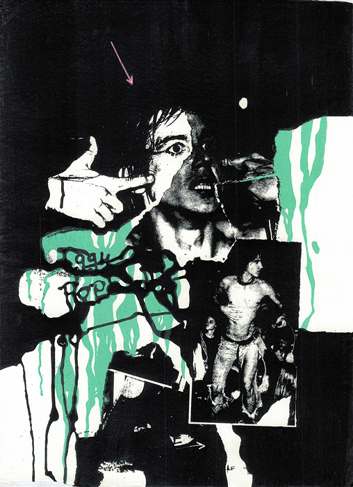 『IGGY POP REBEL No 7』1978 by JOHN DOVE and MOLLY WHITE Screenprint 