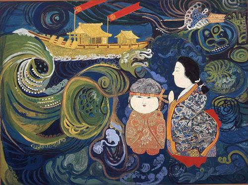 片岡球子『海(鳴門)』1962年 神奈川県立近代美術館