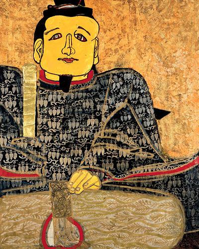 片岡球子『面構 足利尊氏』1966年 神奈川県立近代美術館