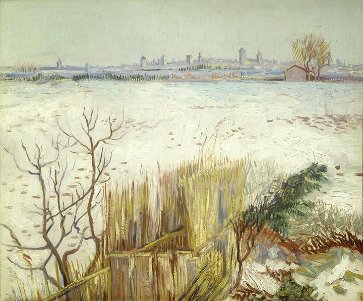 フィンセント・ファン・ゴッホ『雪景色』 1888年、油彩・カンヴァス、個人蔵