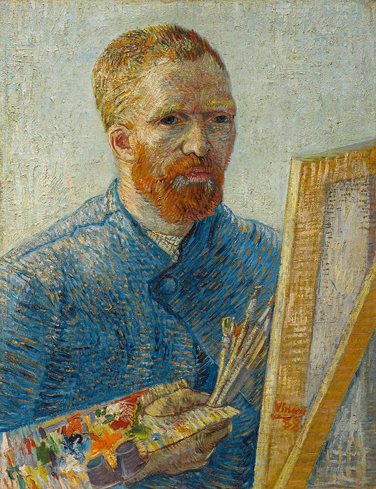 フィンセント・ファン・ゴッホ『画家としての自画像』 1887年、油彩・カンヴァス、ファン・ゴッホ美術館(フィンセント・ファン・ゴッホ財団)蔵 ©Van Gogh Museum, Amsterdam (Vincent van Gogh Foundation)