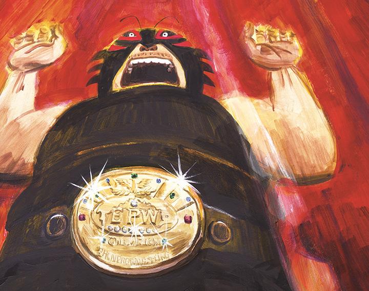 板橋雅弘、吉田尚令『パパはわるものチャンピオン』イラスト ©2011 Hisanori Yoshida.