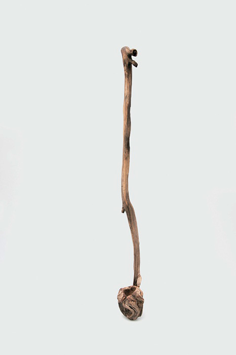柄杓 松の木のこぶ 川合優