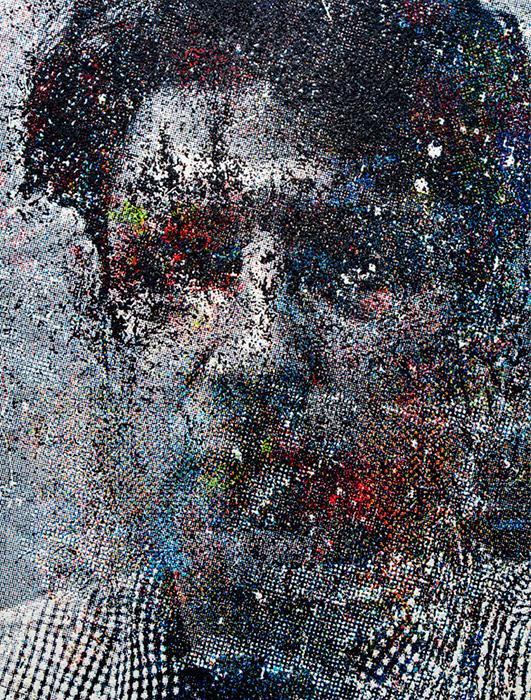サイトウマコト『Neural Network_10』2016, oil on canvas, 215.0 × 163.0cm ©Makoto Saito, Courtesy of Tomio Koyama Gallery