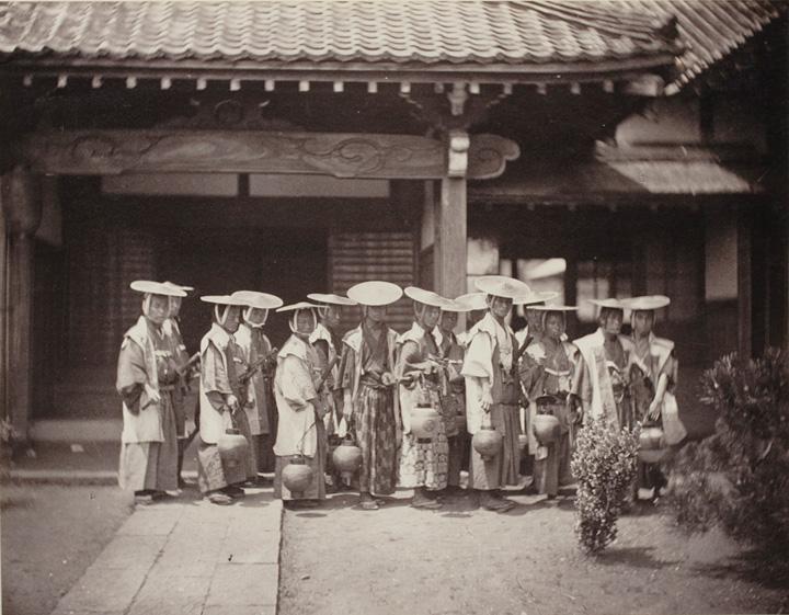 フェリーチェ・ベアト『夜警、江戸』鶏卵紙 DIC川村記念美術館