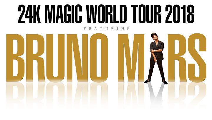『Bruno Mars 24K MAGIC WORLD TOUR 2018』ビジュアル