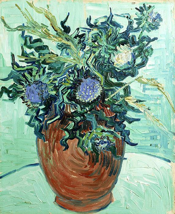 フィンセント・ファン・ゴッホ『アザミの花』 1890年