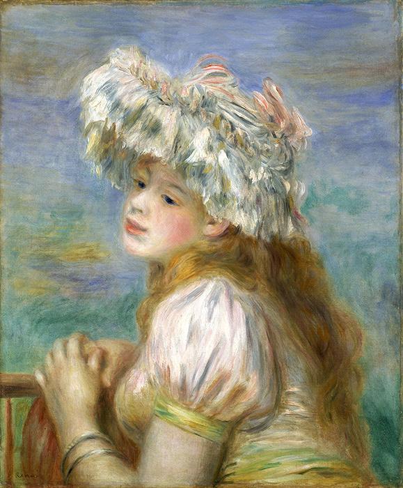 ピエール=オーギュスト・ルノワール『レースの帽子の少女』 1891年