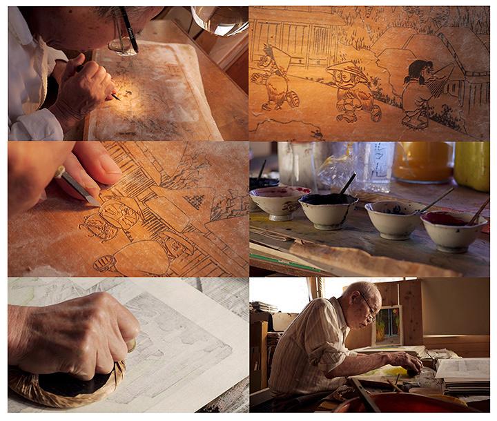 『ドラえもん浮世絵』制作過程
