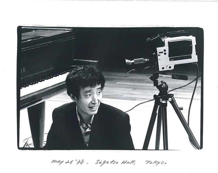 ナムジュン・パイク 草月ホール 1978年5月26日 撮影:安斎重男