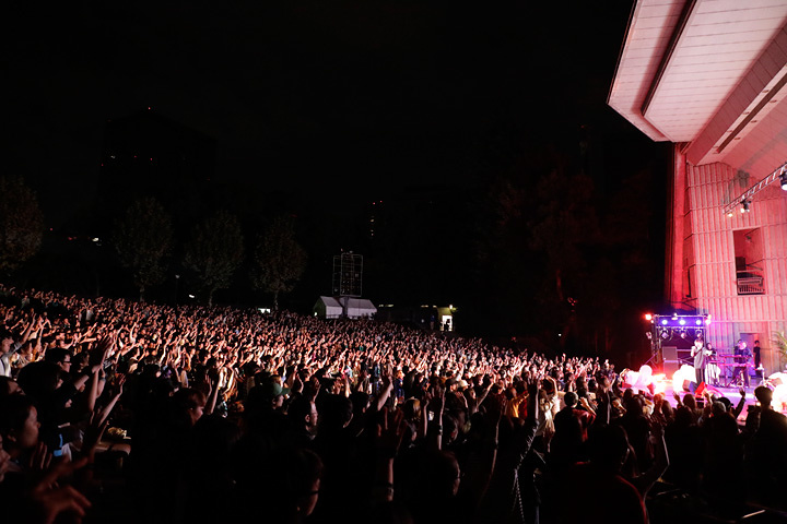 ぼくのりりっくのぼうよみ 10月8日に日比谷野外大音楽堂で開催されたワンマンライブより ©平田浩基