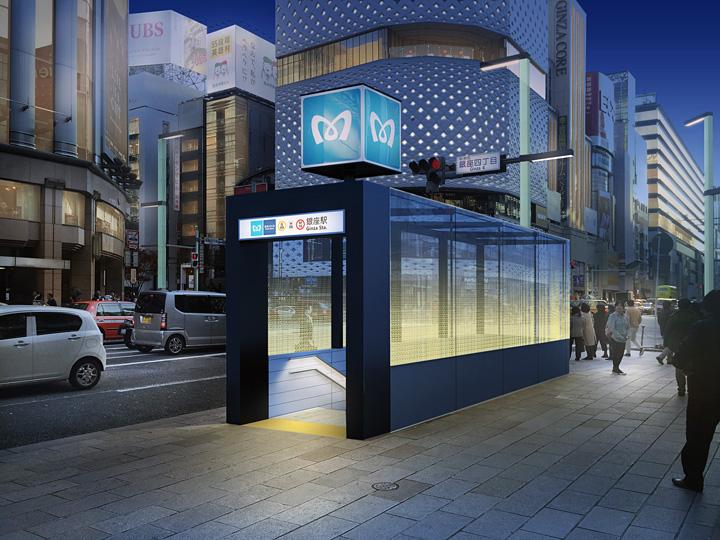 東京メトロ・銀座駅出入口(銀座4丁目交差点) イメージビジュアル