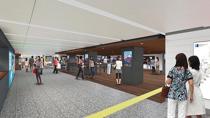 東京メトロ・銀座駅 日比谷線コンコース(晴海通り下)イメージビジュアル
