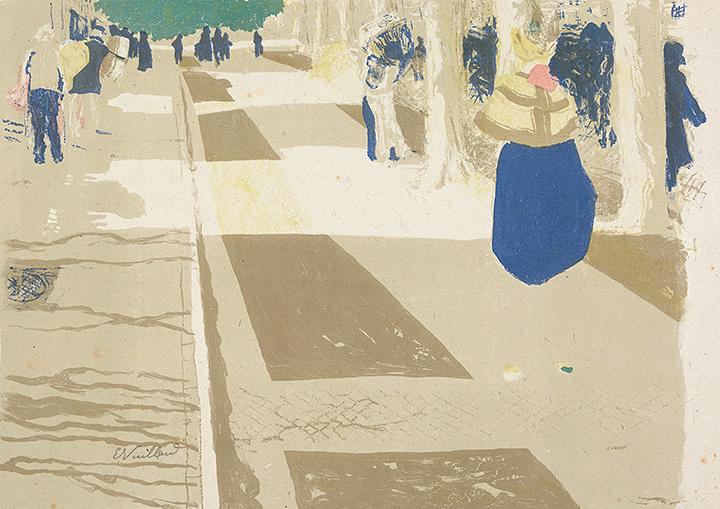 エドゥアール・ヴュイヤール『街路(風景と室内)』1899年 多色刷りリトグラフ アムステルダム、ファン・ゴッホ美術館
