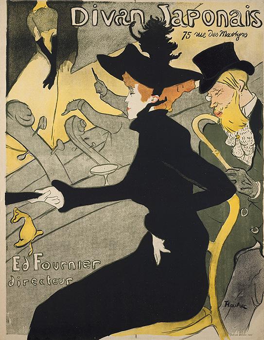 アンリ・ド・トゥールーズ=ロートレック『ディヴァン・ジャポネ』1893年 多色刷りリトグラフ 三菱一号館美術館