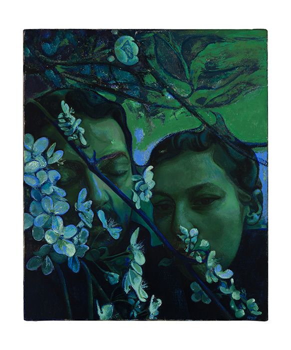 Victor Man, In Adancul Parcurilor Mele (In The Depth Of My Gardens), 2016-2017, Oil on canvas, 23 5/8 x 19 11/16 inches (60 x 50 centimeters) ©Victor Man, Courtesy of the artist and Blum & Poe, Los Angeles/New York/TokyoPhoto: Mathias Schorman