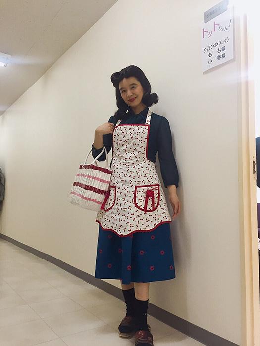 笠置シヅ子役を演じるもも(チャラン・ポ・ランタン)