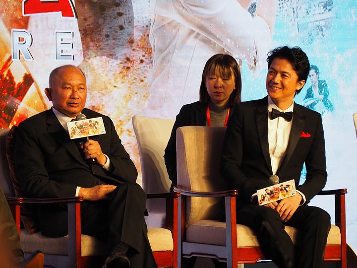 2017年11月20日に北京で行なわれた『マンハント』プレミア上映の模様 ©2017 Media Asia Film Production Limited All Rights Reserved.
