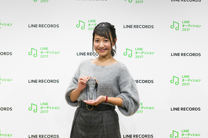 『LINEオーディション2017』ボーカリスト部門最優秀賞を受賞した福室莉音