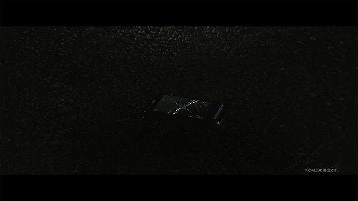 arrows NX F-01K新CM「割れない刑事」シリーズ「追跡」篇より