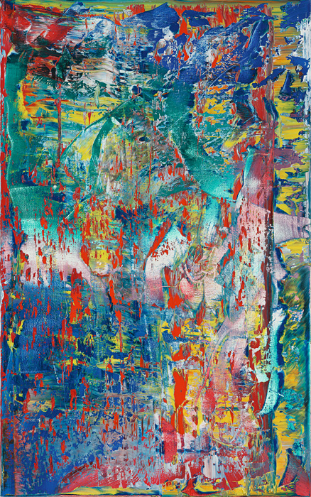 ゲルハルト・リヒター『Abstract Painting (945-2)』2016, oil on canvas, 112x70cm ©Gerhard Richter, courtesy WAKO WORKS OF ART