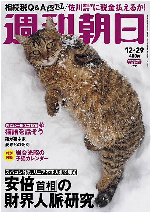 『週刊朝日』2017年12月29日号 表紙