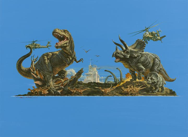 ジュラシックパーク『ジュラシックパーク』1991年 © 生賴範義