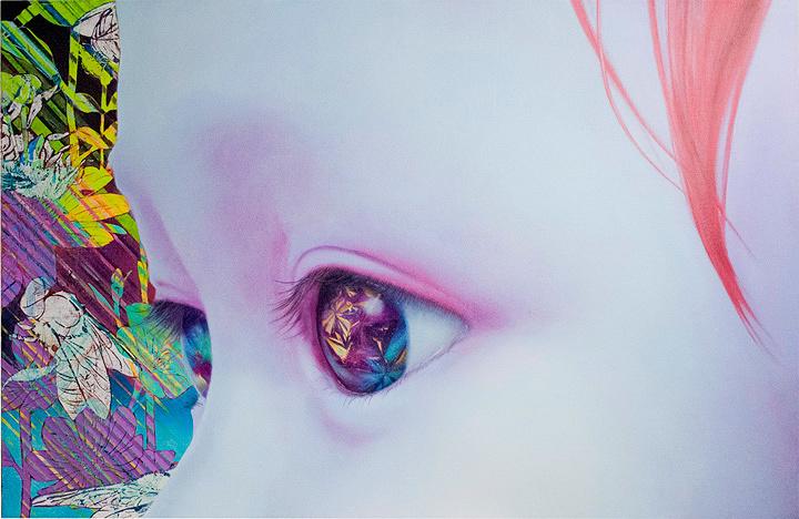 品川美香『Polyphony』68×162cm パネル・キャンバスに油彩・アクリル 2017