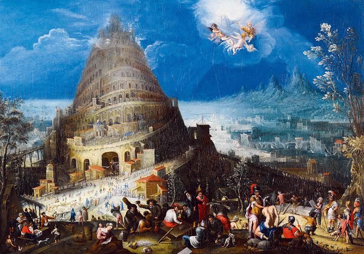 マールテン・ファン・ファルケンボルフ、ヘンドリク・ファン・クレーフェ 『バベルの塔』 1580 年頃 Private Collection, France