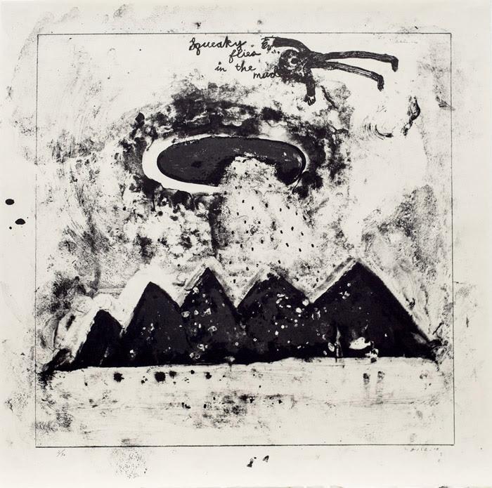 デヴィッド・リンチ『Squeaky Flies in the Mud』2015 lithograph on Japanese paper h.60.0×w.60.0cm ©David Lynch, Courtesy Item Editions