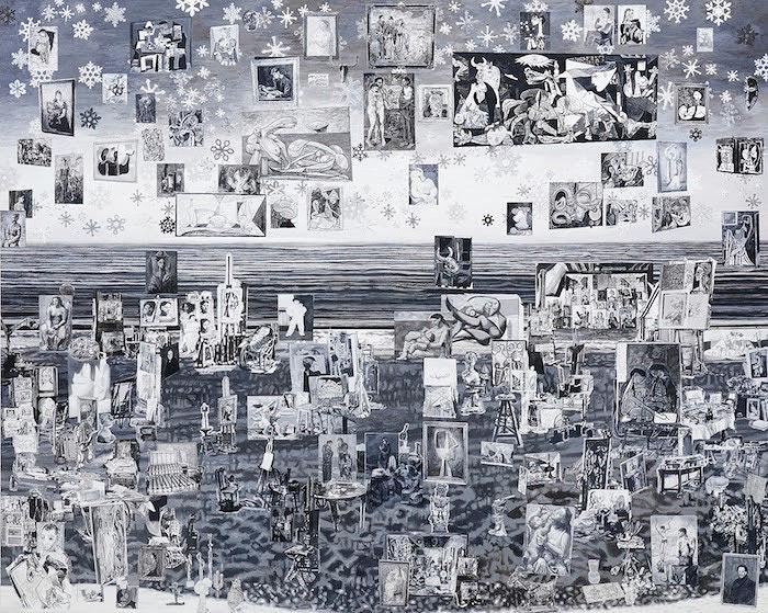 桑久保徹『Pablo Picasso's Studio』2017, oil on canvas, 181.8 × 227.3cm ©Toru Kuwakubo, Courtesy of Tomio Koyama Gallery
