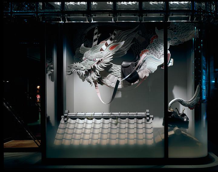 ミヤケマイ『雨奇晴好』2007年 ©Satoshi Asakawa / Courtesy of Hermès Japon