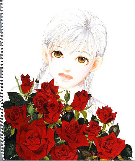 いくえみ綾『バラ色の明日』展示作品イメージビジュアル