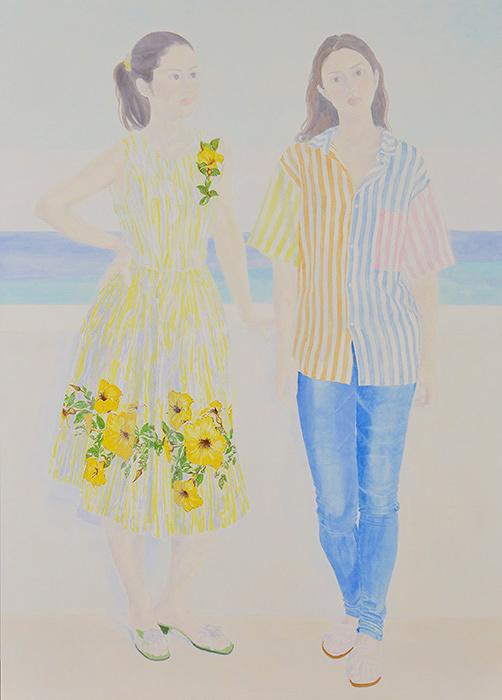 優秀賞 阿部操『The beautiful day』2017年 油彩、キャンバス 190×136 ㎝