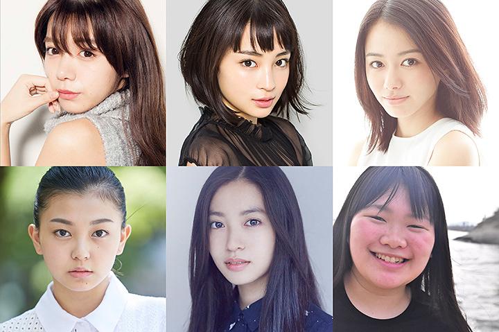左上から時計回りに池田エライザ、広瀬すず、山本舞香、富田望生、田辺桃子、野田美桜