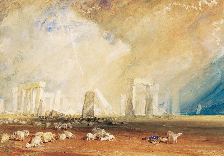 『ストーンヘンジ、ウィルトシャー』 1827-1828年 水彩・紙 27.9×40.4cm ソールズベリー博物館 On loan from The Salisbury Museum, England