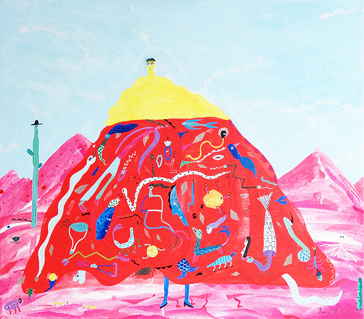 岡田杏里『砂漠の花』2017年 キャンバスにアクリル絵の具