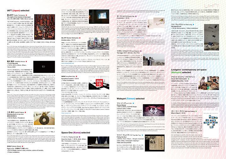 『Interdisciplinary Art Festival Tokyo17/18』フライヤービジュアル裏面