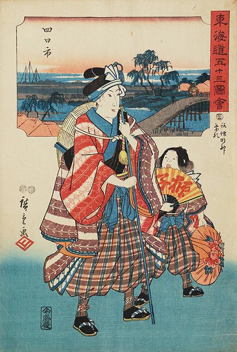 歌川広重『東海道五十三図会 四十四 諏訪明神祭礼』