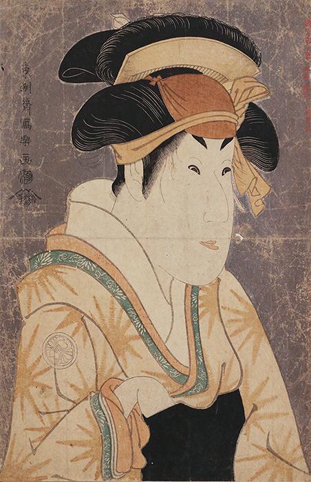 東洲斎写楽『三代目瀬川菊之丞の田辺文蔵の妻おしづ』