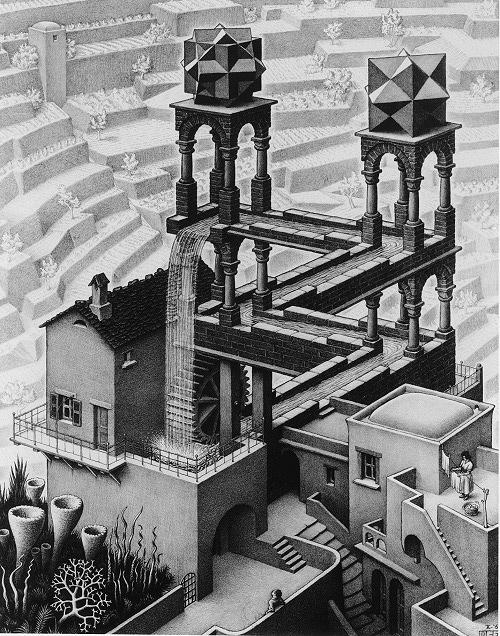 『滝』 1961年 All M.C. Escher works copyright © The M.C. Escher Company B.V. - Baarn-Holland. All rights reserved. www.mcescher.com
